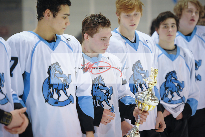 Chugiak Eagle River Hockey CIC Championship game Friday, Feb. 4, 2017.  Photo for the Star by Michael DInneen