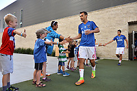 San Jose, CA - Saturday June 17, 2017: Chris Wondolowski, fans prior to a Major League Soccer (MLS) match between the San Jose Earthquakes and the Sporting Kansas City at Avaya Stadium.
