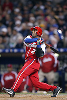 Eduardo Paret of the Cuban national team during championship game against Japan during the World Baseball Championships at Petco Park in San Diego,California on March 20, 2006. Photo by Larry Goren/Four Seam Images