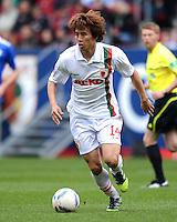 FUSSBALL   1. BUNDESLIGA  SAISON 2011/2012   32. Spieltag FC Augsburg - FC Schalke 04         22.04.2012 Koo Ja Cheol (FC Augsburg)