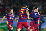(L-R) Jordi Alba, Luis Suarez, Lionel Messi, Neymar (Barcelona), <br /> DECEMBER 20, 2015 - Football / Soccer : <br /> FIFA Club World Cup Japan 2015 <br /> Final match between River Plate 0-3 Barcelona  <br /> at Yokohama International Stadium in Kanagawa, Japan.<br /> (Photo by Yohei Osada/AFLO SPORT)