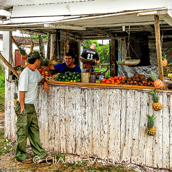 Faces Of Cuba - Fruit stand for the neighborhood.<br /> <br /> -Limited Edition of 50 prints.