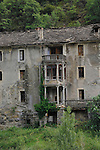abandoned house, Fiscal area,Aragon, Pyrenees mountains,Spain/