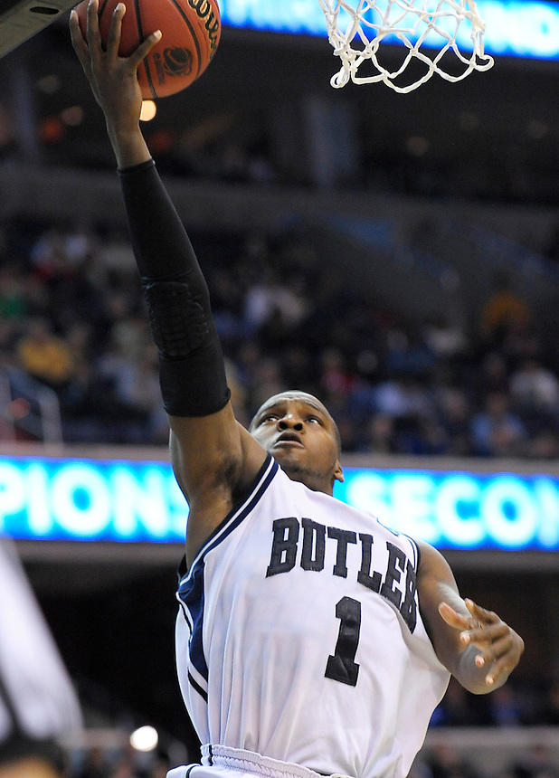 Shelvin Mack of the Bulldogs gets an open look for a layup. Butler defeated Old Dominion 60-58 during the NCAA tournament at the Verizon Center in Washington, D.C. on Thursday, March 17, 2011. Alan P. Santos/DC Sports Box