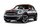 Stock pictures of low aggressive front three quarter view of 2016 MINI Countryman Cooper S Park Lane 5 Door Hatchback Low Aggressive