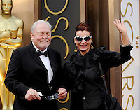 HOLLYWOOD, CA - MARCH 2: Stacy Keach, Malgosia Tomassi arriving to the 2014 Oscars at the Hollywood and Highland Center in Hollywood, California. March 2, 2014. Credit: SP1/Starlitepics. /NORTePHOTO