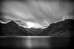 Long exposure shot of Loch Coruisk on the Isle of Skye.