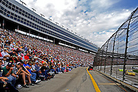 Nov. 8, 2009; Fort Worth, TX, USA; NASCAR Sprint Cup Series fans watch from the grandstands during the Dickies 500 at the Texas Motor Speedway. Mandatory Credit: Mark J. Rebilas-
