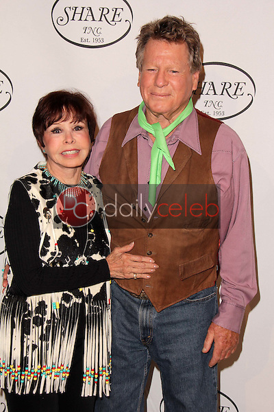 """Ryan O'Neal, Neile McQueen<br /> at the SHARE 60th Annual """"Denim & Diamonds"""" Boomtown Event, Beverly Hilton Hotel, Beverly Hills, CA 05-11-13<br /> David Edwards/Dailyceleb.com 818-249-4998"""