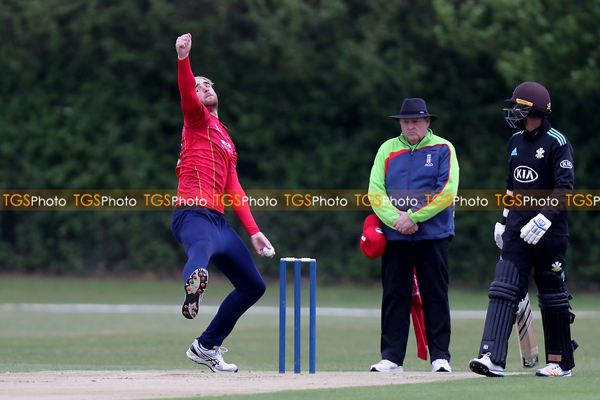 Essex bowler Paul Walter in bowling action during Essex CCC 2nd XI vs Surrey CCC 2nd XI, Second XI Trophy Cricket at Billericay Cricket Club on 3rd May 2017