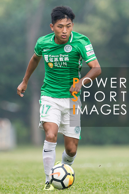 Hiu Fung Chan of Wofoo Tai Po in action during the week three Premier League match between BC Rangers and Wofoo Tai Po at Sham Shui Po Sports Ground on September 17, 2017 in Hong Kong, China. Photo by Marcio Rodrigo Machado / Power Sport Images