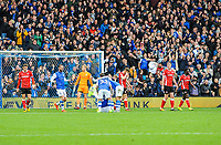 Sheffield Wednesday congratulate Sheffield Wednesday's midfielder Adam Reach (20) during the Sky Bet Championship match between Sheff Wednesday and Barnsley at Hillsborough, Sheffield, England on 28 October 2017. Photo by Stephen Buckley / PRiME Media Images.