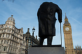 Statue of Winston Churchill, Parliament Square, London