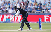 Martin Guptill (New Zealand) pushes into the on side during England vs New Zealand, ICC World Cup Cricket at The Riverside Ground on 3rd July 2019