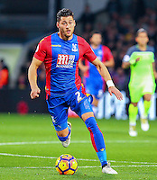 Joel Ward  of Crystal Palace during the EPL - Premier League match between Crystal Palace and Liverpool at Selhurst Park, London, England on 29 October 2016. Photo by Steve McCarthy.