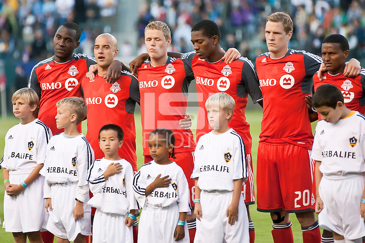 CARSON, CA – June 11, 2011: Toronto FC team before the match between LA Galaxy and Toronto FC at the Home Depot Center in Carson, California. Final score LA Galaxy 2, Toronto FC 2.