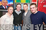 Waiting to ring in the new year in Jades were Ronan O'Connell, Trevor O'Donoghue, Peter McCarthy and Anthony O'Carroll.
