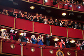 United States President Barack Obama and First Lady Michelle Obama attend the Kennedy Center Honors at the Kennedy Center in Washington, DC, USA, 06 December 2015.  The 2015 Kennedy Center honorees are: singer-songwriter Carole King, filmmaker George Lucas, actress and singer Rita Moreno, conductor Seiji Ozawa, and actress and Broadway star Cicely Tyson.  From left to right: Cicely Tyson, Rita Moreno, George Lucas, Carole King, Michelle Obama and President Obama.  Also visible are Valerie Jarrett, Julie Chen and Les Moonves.<br /> Credit: Jim LoScalzo / Pool via CNP