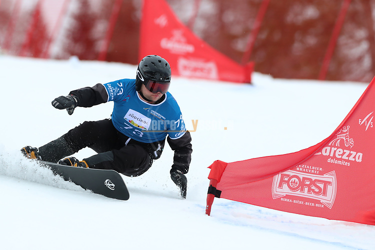 Parallel Slalom event of the FIS Snowboard World Cup on 19/12/2019 in Carezza, Italy.<br />  Oleksandr Belinskyy (UKR)
