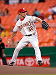 16 May 2007: Washington Nationals pitcher Levale Speigner in action against the Atlanta Braves at RFK Stadium in Washington, DC. The Nationals rallied to defeat the Braves 6-4 to take a 2-1 lead in their four-game series...Mandatory Photo Credit: Ed Wolfstein Photo