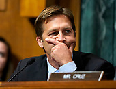 Sen. Ben Sasse, R-Neb., questions Supreme Court nominee Brett Kavanaugh as he testifies before the Senate Judiciary Committee on Capitol Hill in Washington, Thursday, Sept. 27, 2018. (AP Photo/Andrew Harnik, Pool)