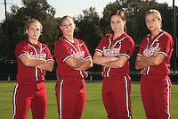 1 November 2007: Shannon Koplitz, Rosey Neill, Alissa Haber and Michelle Schroeder on picture day at Boyd and Jill Smith Family Stadium in Stanford, CA.