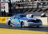 Mar. 15, 2013; Gainesville, FL, USA; NHRA pro stock driver Matt Hartford during qualifying for the Gatornationals at Auto-Plus Raceway at Gainesville. Mandatory Credit: Mark J. Rebilas-