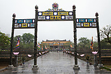 VIETNAM, Hue, looking towards the entrance of the Citadel, a view from inside the walls of the Citadel on rainy day