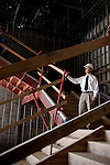 Kenny Harrison is the Fire Safety Program Manager at Auburn University in Auburn, Alabama. He stands on a stairwell of the school's new basketball arena, which is under construction, November 18, 2009.