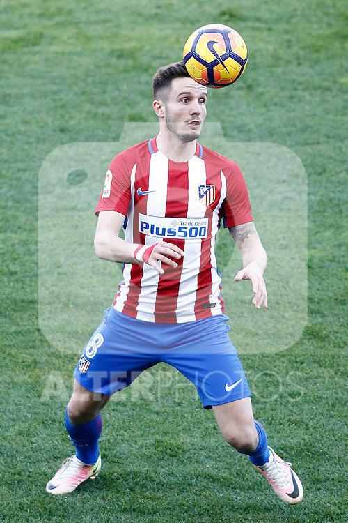 Atletico de Madrid's Saul Niguez during La Liga match. February 26,2017. (ALTERPHOTOS/Acero)