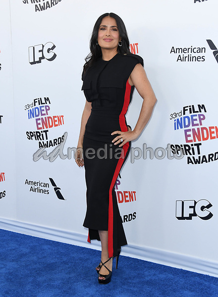 03 March 2018 - Santa Monica, California - Salma Hayek Pinault. 2018 Film Independent Spirit Awards -Arrivals, held at the Santa Monica Pier. Photo Credit: Birdie Thompson/AdMedia