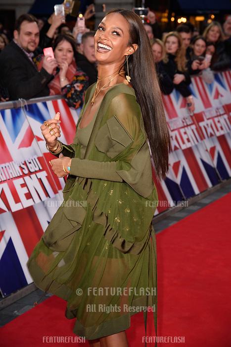 Alesha Dixon at the London auditions for Britain's Got Talent 2018 at the London Palladium, London, UK. <br /> 28 January  2018<br /> Picture: Steve Vas/Featureflash/SilverHub 0208 004 5359 sales@silverhubmedia.com