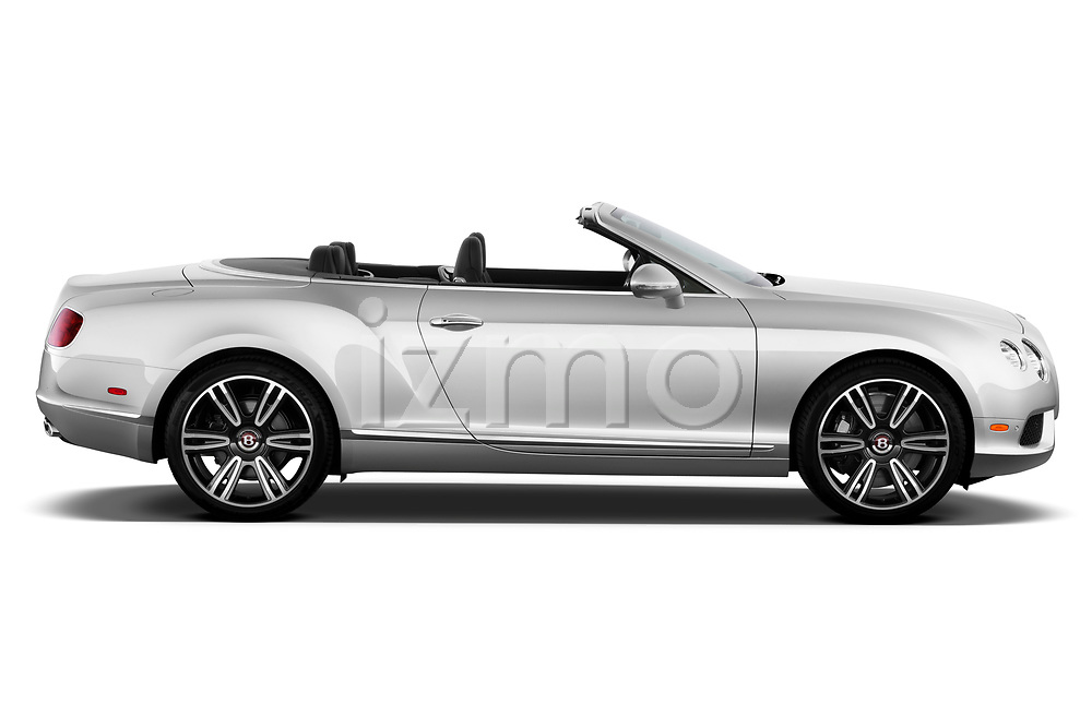 Driver side profile view of a 2013 - 2014 Bentley Continental GTC Convertible.