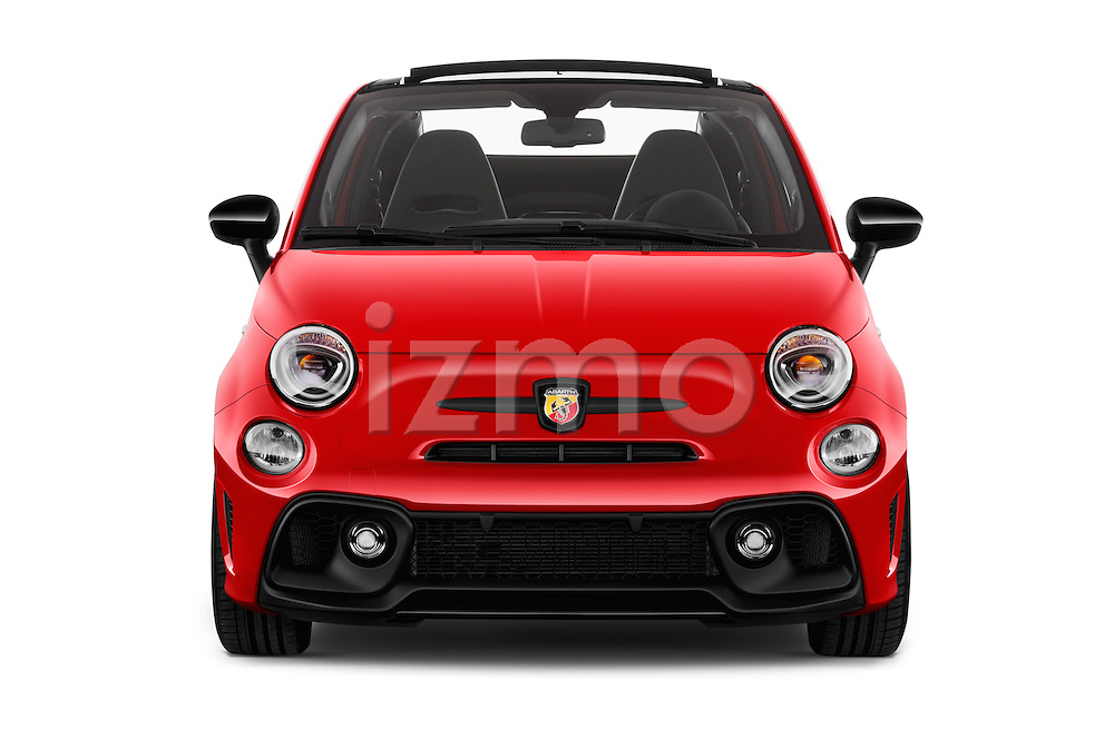 Car photography straight front view of a 2016 Abarth 595 Competizione 2 Door Convertible Front View