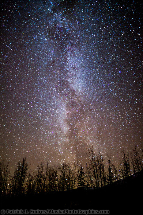 Milky way on a dark night, Wiseman, Alaska.