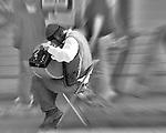Street musician in Gruene Texas