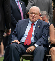 Rudy Giuliani attends the White House Sports and Fitness Day at the White House in Washington, DC, May 30, 2018. <br /> CAP/MPI/RS<br /> &copy;RS/MPI/Capital Pictures