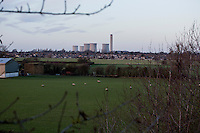 The Didcot Power Station is visible from <br /> East Hagbourne in the Thames Valley near Didcot, Oxfordshire, England. The power plant used coal to generate electricity until March 2013. Now, part of the plant uses natural gas to generate power, and the cooling towers are planned to be demolished in 2014. The towers at the plant are some of the tallest structures in Britain.