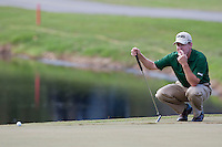 November 14, 2010: Jeff Maggert lines up his putt on the 17th green of the Magnolia course during third round golf action from The Children's Miracle Network Hospitals Classic held at The Disney Golf Resort in Lake Buena Vista, FL.