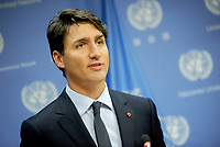 SEP 21 Justin Trudeau UN Press Briefing