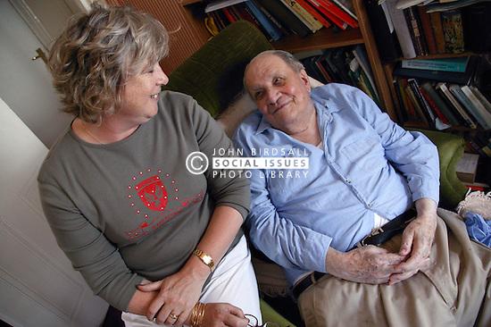 Carer and elderly man,