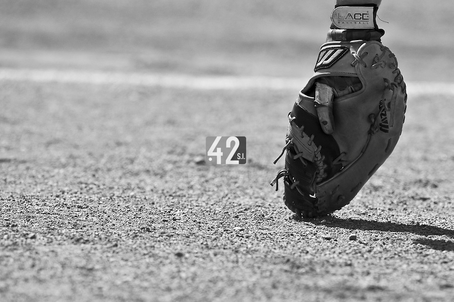 24 May 2009: Close view of a baseball glove during the 2009 challenge de France, a tournament with the best French baseball teams - all eight elite league clubs - to determine a spot in the European Cup next year, at Montpellier, France. Senart wins 8-5 over La Guerche.