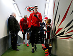 John Lundstram of Sheffield Utd  in from warm up during the Championship match at Bramall Lane Stadium, Sheffield. Picture date 26th December 2017. Picture credit should read: Simon Bellis/Sportimage
