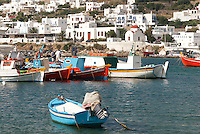 The Greek island Mykonos was situated on major sea trade-route which at one time joined Venice, the gateway of Europe, to Asia. Because of the island's rocky terrain and limited rainfall the locals turned mainly to the sea for survival.