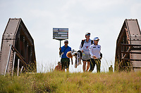 Eun-Hee Ji (KOR) makes her way across the bridge to the tee on 2 during the round 2 of the Volunteers of America Texas Classic, the Old American Golf Club, The Colony, Texas, USA. 10/4/2019.<br /> Picture: Golffile | Ken Murray<br /> <br /> <br /> All photo usage must carry mandatory copyright credit (© Golffile | Ken Murray)