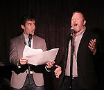 Seth Rudetsky and Huner Bell performing at the Seth Rudetsky Book Launch Party for 'Seth's Broadway Diary' at Don't Tell Mama Cabaret on October 22, 2014 in New York City.