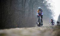 Paris-Roubaix 2013 RECON at Bois de Wallers-Arenberg..Lars Bak (DNK)