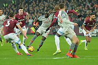 Sadio Mane of Liverpool shoots during West Ham United vs Liverpool, Premier League Football at The London Stadium on 4th February 2019