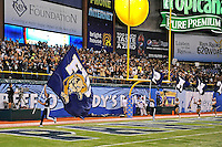 20 December 2011:  FIU's cheerleaders fire up the crowd in the first half as the Marshall University Thundering Herd defeated the FIU Golden Panthers, 20-10, to win the Beef 'O'Brady's St. Petersburg Bowl at Tropicana Field in St. Petersburg, Florida.