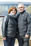 11.04.2018, Trainingsgelaende, Bremen, GER, 1.FBL, Training SV Werder Bremen<br /> <br /> im Bild<br /> Nexhmedin Rashica (re) und Fazile Rashica (li) (Eltern von Milot Rashica (Werder Bremen #11)) zu Besuch in Bremen, <br /> <br /> Foto &copy; nordphoto / Ewert